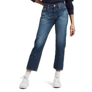 501® High Waist Crop Straight Leg Jeans